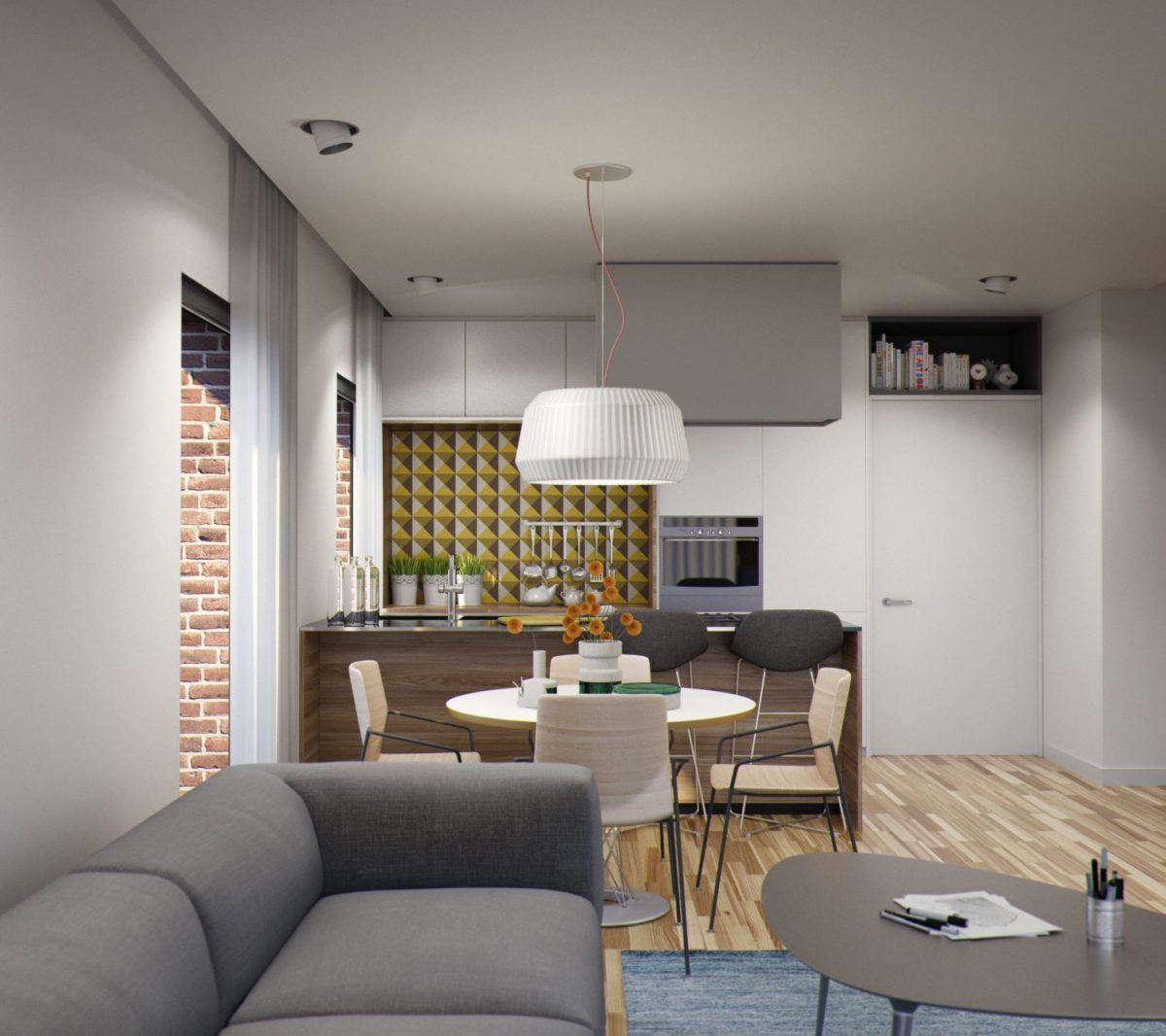 Bucatarie+Dining+Living